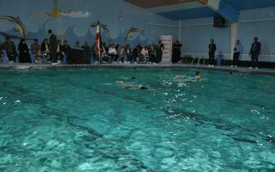 آیین افتتاح استخر مدرس در چهاردانگه