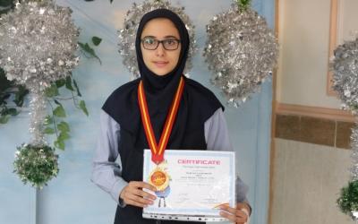 مریم وسیله بر، مدال طلای مسابقات آسیایی تكواندو را بر گردن آویخت