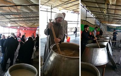 مراسم پخت حلیم نذری در شهرستان پیشوا