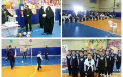 مسابقه ورزشی پدر و پسر در مدارس شبستر برگزار شد