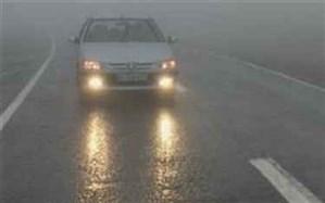 باران و مه در محورهای مواصلاتی استانهای شمالی