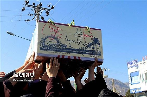 مراسم تشییع و خاکسپاری پیکر پاک شهدای گمنام در بیرجند