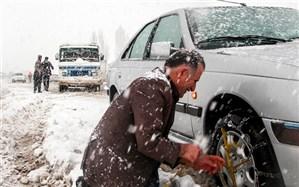 بارش برف و باران در جادههای 7 استان