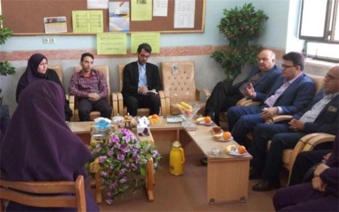 بازدید+  رئیس اداره امور شاهد و ایثارگران آموزش و پرورش استان بوشهر