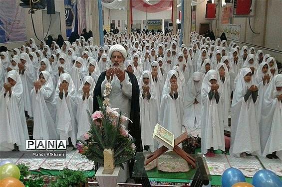 مراسم جشن تکلیف سیصد و شصت دانش آموز دختر پایه سوم ابتدایی شهرستان فردوس