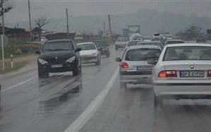 بارش باران در اکثر محورهای مواصلاتی کشور