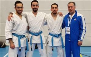 لیگ جهانی کاراته؛ کاتای تیمی مردان ایران به یک قدمی طلا رسید