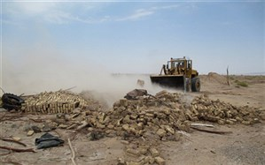 رفع تصرف بیش از 10 هکتار از اراضی پارک ملی بختگان