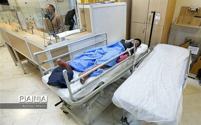 مصدومان چهارشنبه آخرسال در بیمارستان سوانح سوختگی مطهری