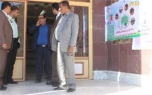 رئیس اداره آموزش و پرورش دلوار از  ستاد اسکان مسافران نوروزی  بازدید کرد