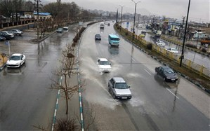 بارش باران در محورهای 8 استان کشور