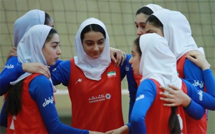 والیبال دختران نوجوان ایران 2018