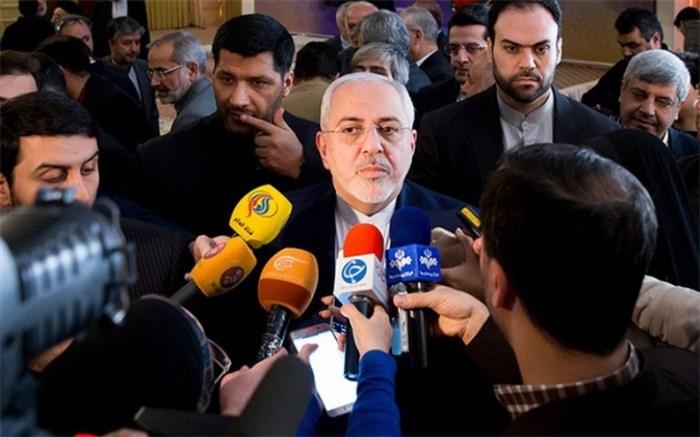 ظریف در جمع خبرنگاران