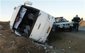 دو کشته و ۲۵مصدوم در واژگونی اتوبوس