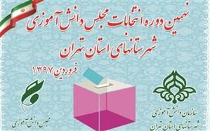 برگزاری نهمین دوره انتخابات مجلس دانش آموزی شهرستانهای استان تهران