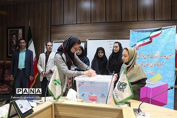 نهمین دوره انتخابات مجلس دانش آموزی شهرستانهای استان تهران
