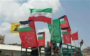 پاسخ سوری ها به تجاوز آمریکا؛ پرچم ایران و کشورهای محور مقاومت در دمشق برافراشته شد