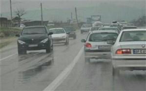 بارش باران در جادههای 4 استان کشور