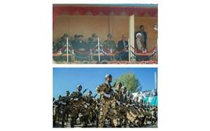 مراسم رسمی رژه نیروهای مسلح استان قزوین به مناسبت روز ارتش برگزار شد