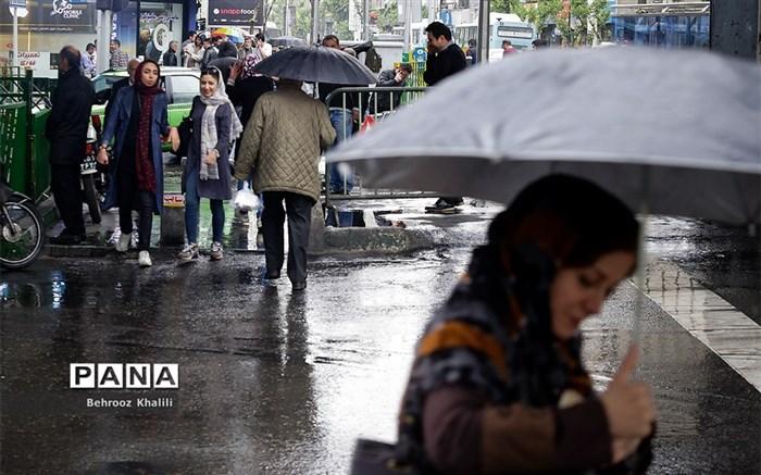 بارش باران بهاری در پایتخت