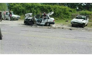 مرگ جوان سیساله در سانحه رانندگی جادهی ساری-تاکام