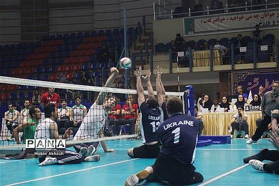 لیگ جهانی والیبال نشسته مردان در تبریز/ ایران ۳-اکراین ۰
