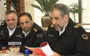 دیدار اعضای شورای اسلامی شهر کرج با فرمانده انتظامی البرز