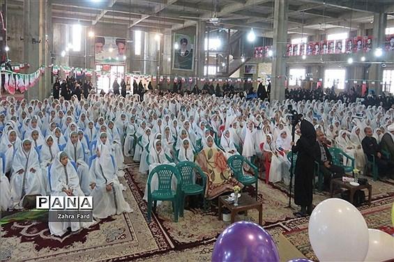 مراسم جشن عبادات دانش آموزان نیریزی