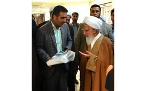 دیدار رییس اداره قرآن آموزش وپرورش مازندران با آیتالله جوادی آملی
