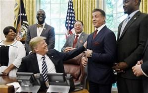 تصویر/ دونالد ترامپ در کنار «رمبو»!