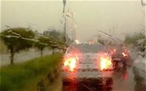 بارش باران و مه گرفتگی در محورهای شمال کشور