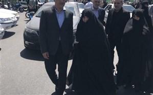 تصویر/ حضور بیت آیت الله هاشمی رفسنجانی در مراسم روز قدس