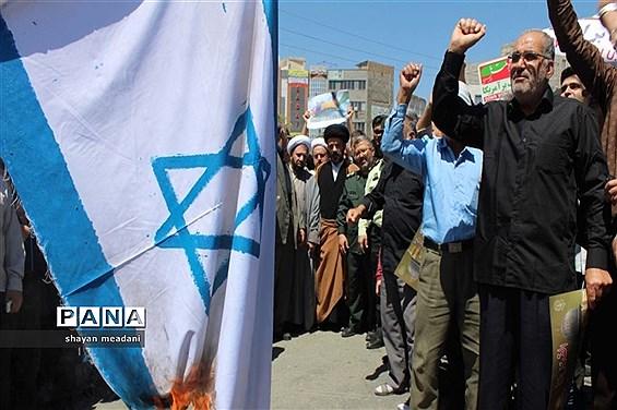راهپیمایی بزرگ مردم شهر قدس در روز جهانی قدس