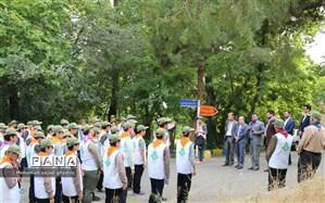 اردوی آمادگی  پیشتازان شهر تهران برای  استقبال از نمازگزاران عید فطر برگزار شد