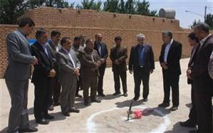 ساخت یک مدرسه خیری در شهرستان مهریز آغاز شد