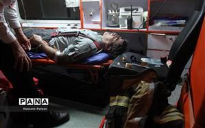 حریق در خیابان امیرکبیر تهران ۱۱ مصدوم برجای گذاشت