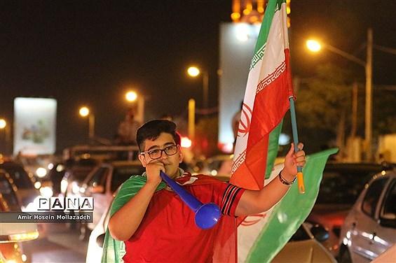 شادی مردم ارومیه پس از آخرین بازی ایران در جام جهانی