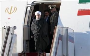 برای سفری دو روزه؛ روحانی وارد رشت شد + ویدئو