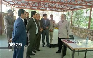 فرماندار بویراحمد و مدیر کل آموزش و پرورش از روند اجرای مسابقات استانی قرآن ،عترت و نماز دانش آموزان بازدید کردند
