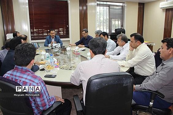 جلسه هم اندیشی معاون جدید پشتیبانی  آموزش و پرورش استان بوشهر