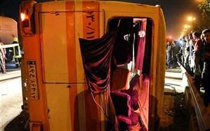 واژگونی مینیبوس در رامیان یک کشته و ۱۳ مجروح بر جای گذاشت