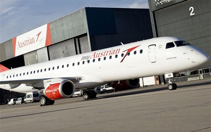 هواپیمایی اتریش پرواز به شهرستانهای ایران را محدود می کند