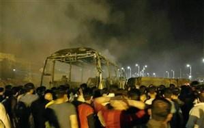 فیلمی از تصادف و آتشسوزی شب گذشته در جاده سنندج