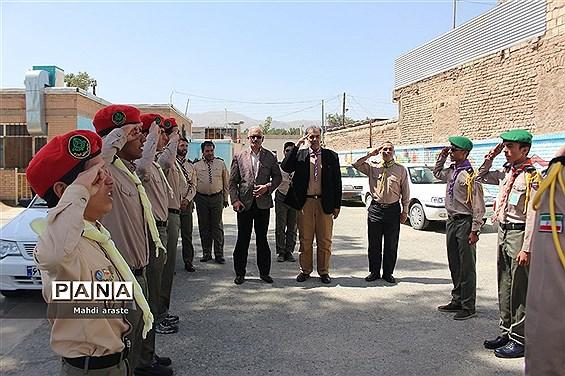 بازدید رئیس سازمان دانش آموزی استان خراسان جنوبی از پایگاه های تابستانی اوقات فراغت