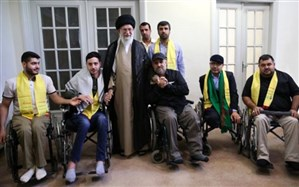 جمعی از جانبازان حزبالله لبنان با رهبر انقلاب دیدار کردند