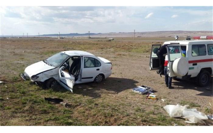 واژگونی خوردو سواری تیبا در محور کلات مشهد