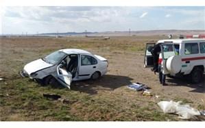 پنج مصدوم در حادثه واژگونی خودرو سواری  تیبا در محور کلات-مشهد