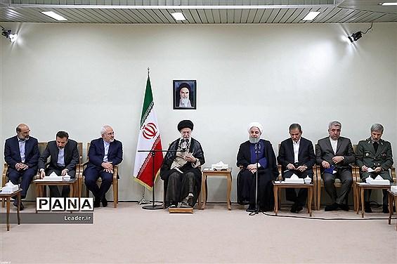 دیدار رئیسجمهور و اعضای هیئت دولت با مقام معظم رهبری