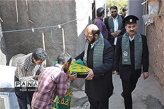 حضورخادمان حرم مطهر امام رضا (ع)  درمنزل خانواده  شهید عیدمحمد عباسی
