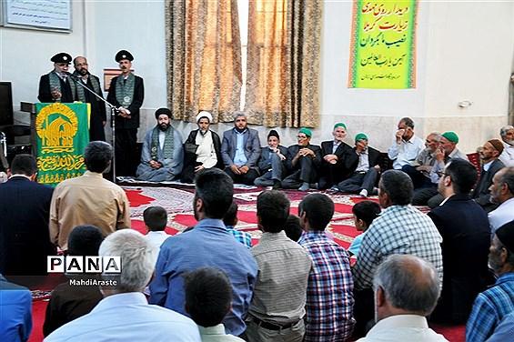 حضورکاروان خدام رضوی درروستای زهان شهرستان زیرکوه